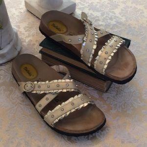 Betula by Birkenstock gold sandals